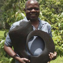Zimbabwean artist Nesbert Mukomberanwa portrait photo