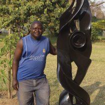Zimbabwean artist Onias Mupumha portrait photo