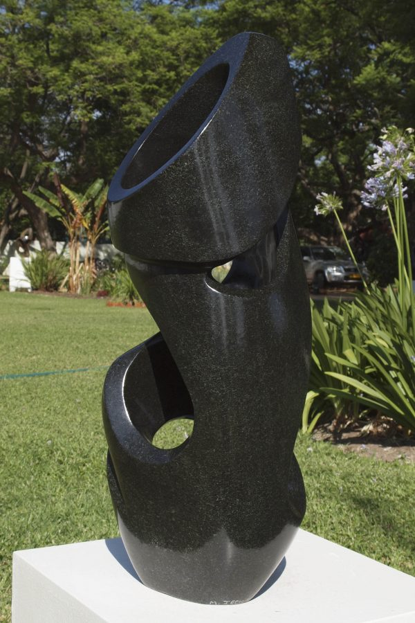 Zimbabwean sculpture The Energy Of Life by Munyaradzi Jeche - back left
