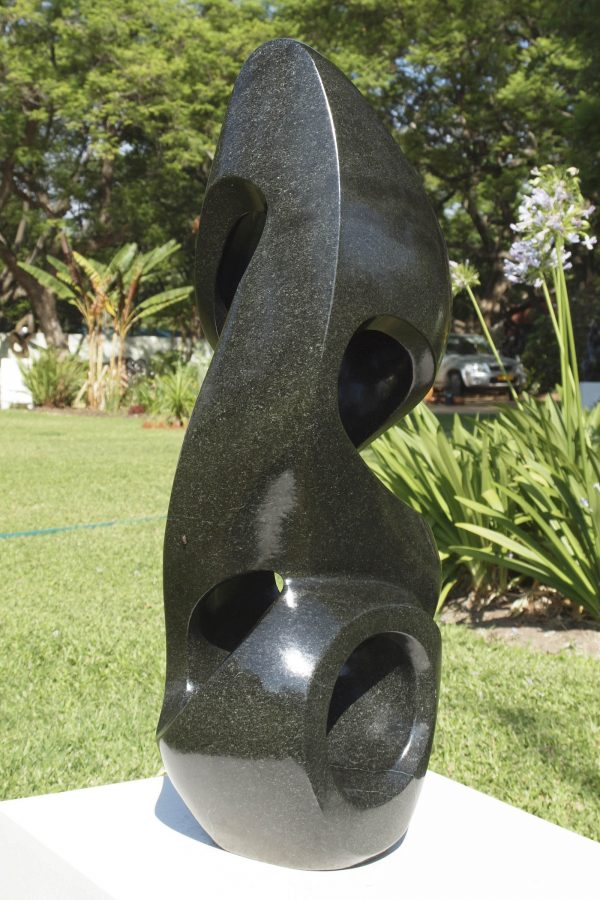 Shona sculpture The Energy Of Life by Munyaradzi Jeche