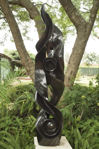 Shona sculpture Ululating by Onias Mupumha