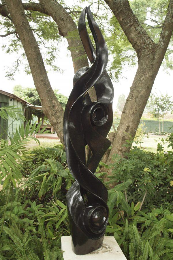 Shona sculpture Ululating by Onias Mupumha