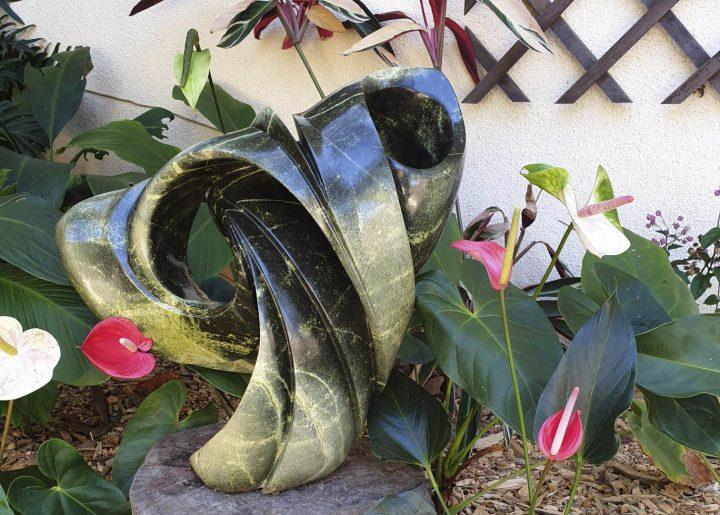 sculpture in client garden