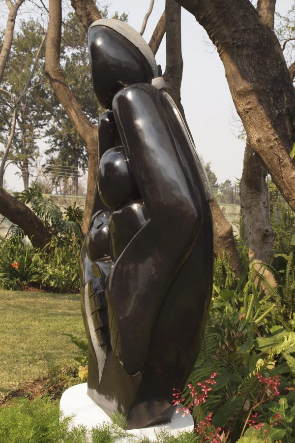 Shona stone sculpture Protective Mother by Edward Chiwawa - right side
