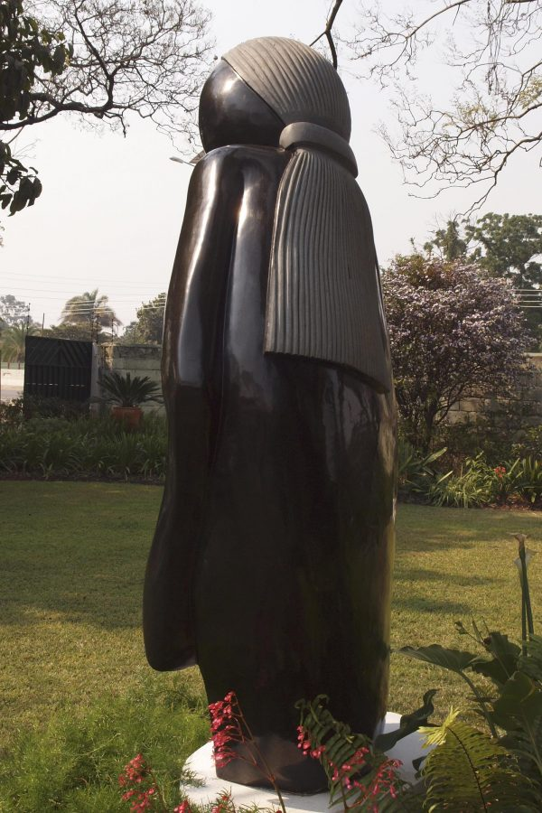 Shona stone sculpture Protective Mother by Edward Chiwawa - back left