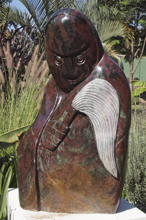 Shona stone sculpture Fortune Teller by Edward Chiwawa - front