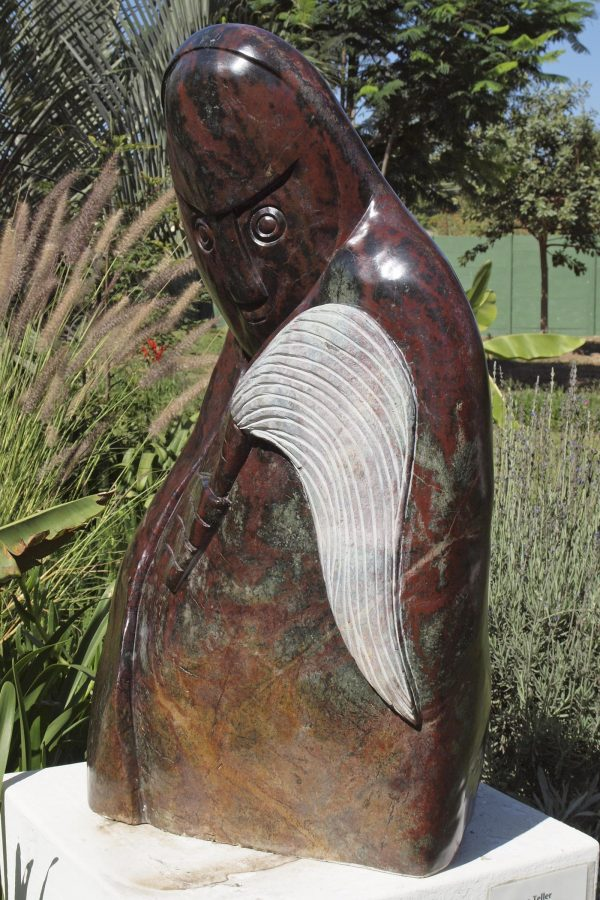 Shona stone sculpture Fortune Teller by Edward Chiwawa - front right