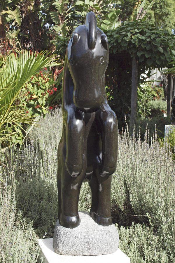 Shona stone sculpture Proud Horse by Ephraim Chaurika - front