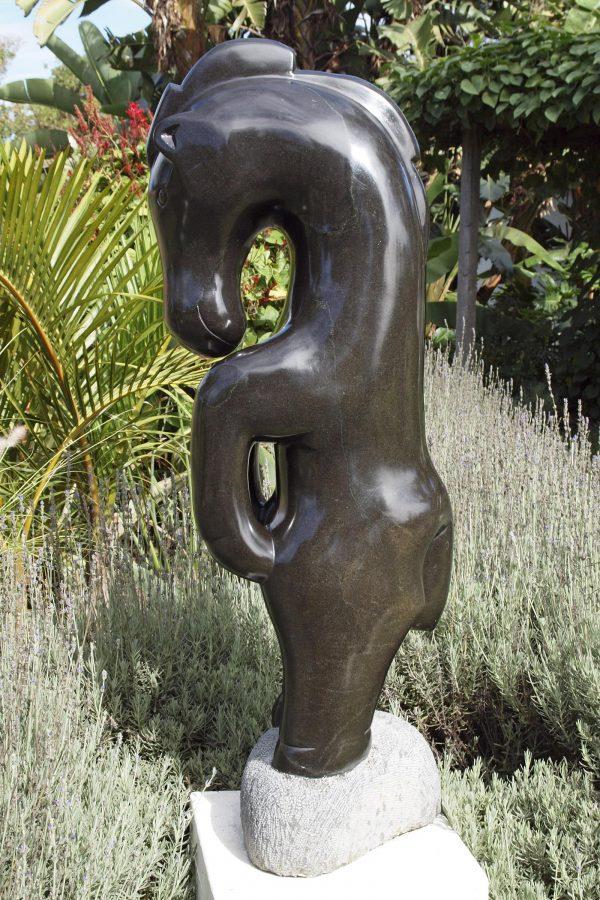 Shona stone sculpture Proud Horse by Ephraim Chaurika - right side