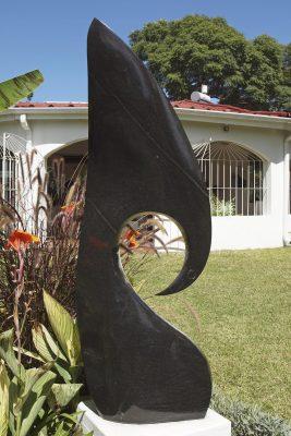 Abstract Shona stone sculpture Kingfisher by Nesbert Mukomberanwa main image